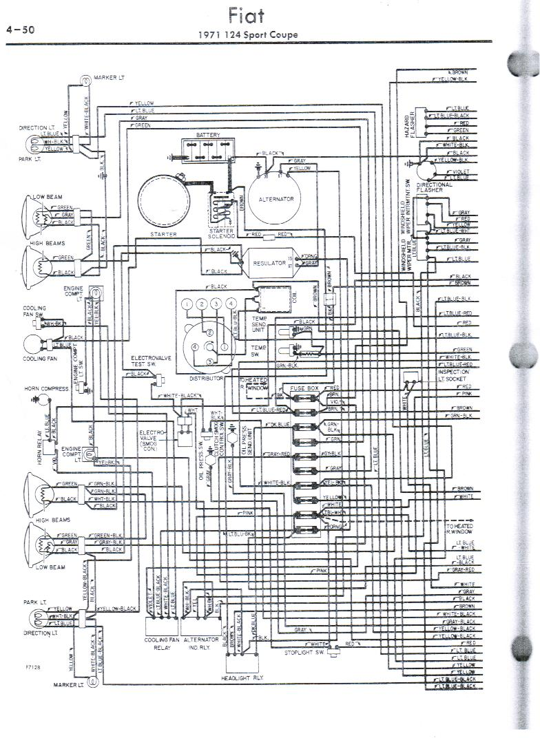 fiat 124 wiring diagram gm alternator to generator wiring diagram passat fuse box location